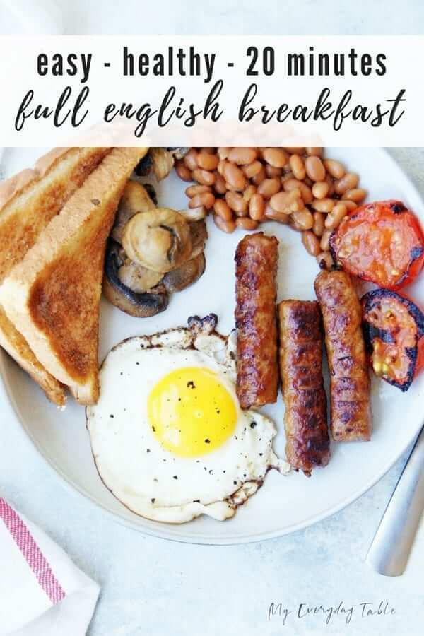 Full English Breakfast Recipe Healthy Full English Breakfast Recipe 20 Minutes My